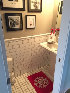 This little powder room is now one of my favorite spots!