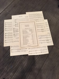 Adding Vintage music sheets