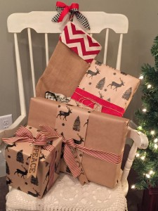 How cute is this deer wrapping paper!? I was thinking it would be perfect for next yrs theme.