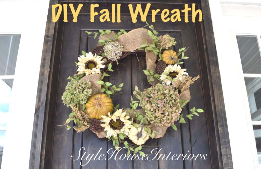 Fall Entry Decor & Wreath Tutorial