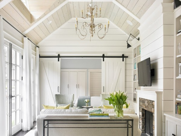 painted-shiplap-walls-barn-door-living-room-built-in-bookcase-Tillman-Long-Interiors-e1443005370555