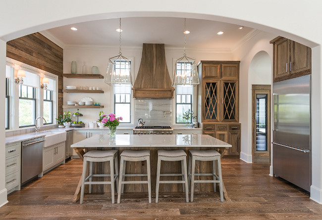 How to choose your island pendants, Old Seagroves Homes via stylehouseinteriors.com