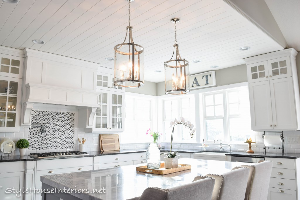 How To Figure Spacing For Island Pendants Style House Interiors - Long kitchen light fixtures