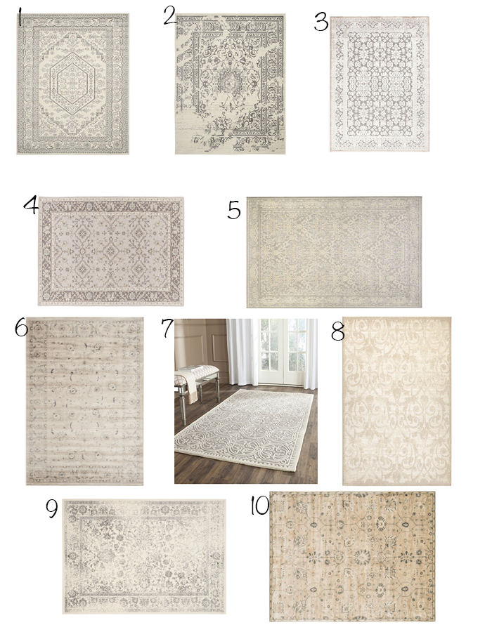 Ten stylish affordable neutral rugs on stylehouseinteriors.com