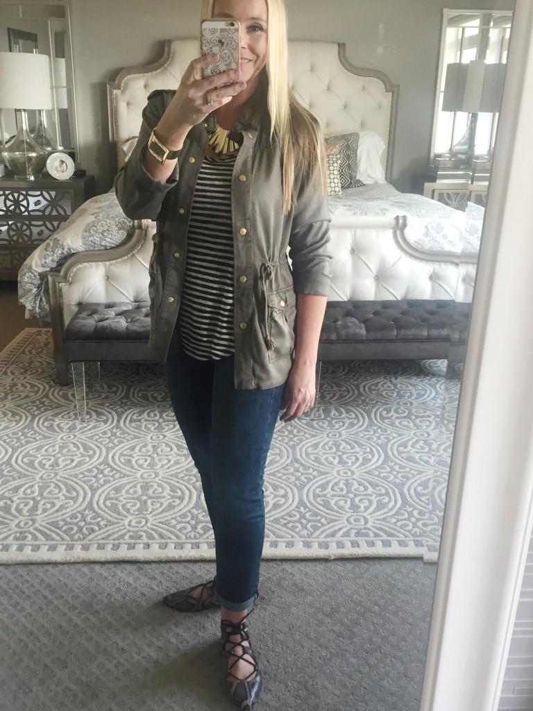 Military jacket styling