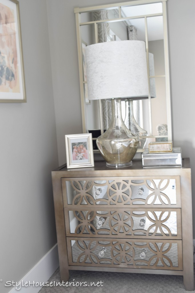 Updating a budget piece with crystal knobs