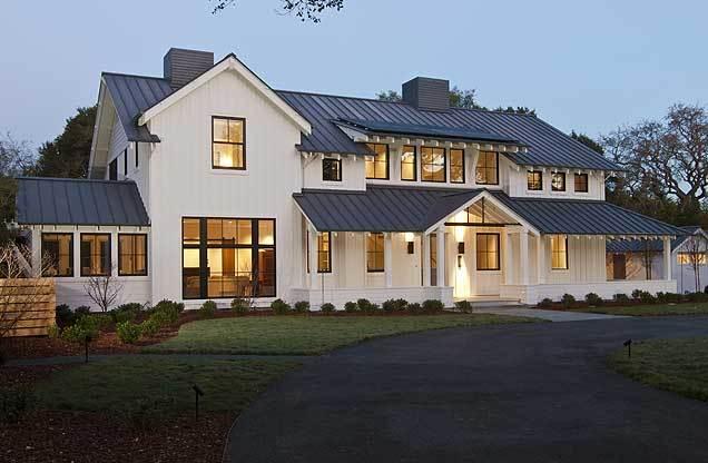 Modern Farmhouse style White+Black windows