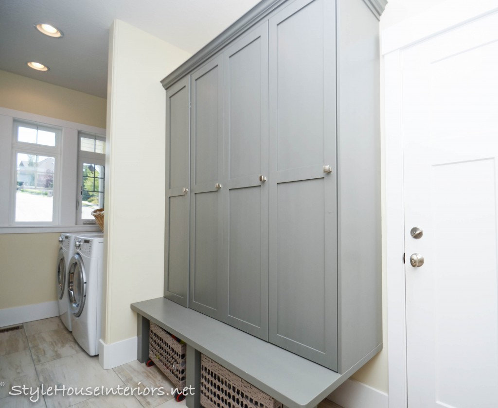 Mudroom and upstairs laundry room