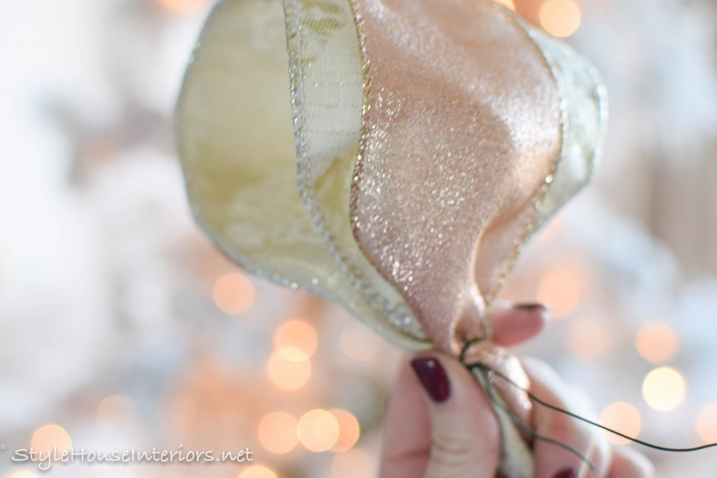 tips on adding ribbon to your tree