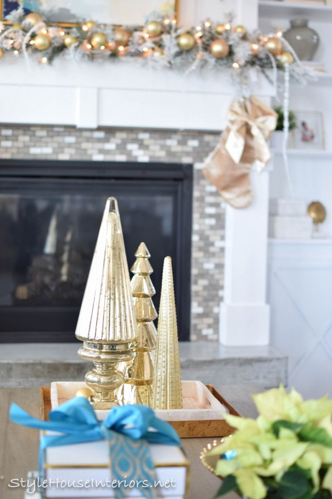 Coffee table styling for the Holidays