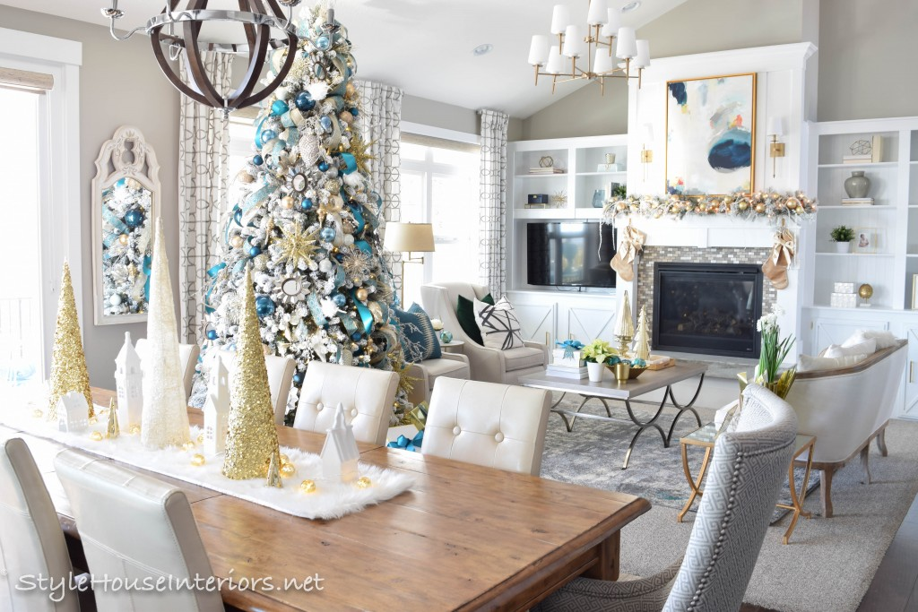 Decorating for Christmas with non traditional colors