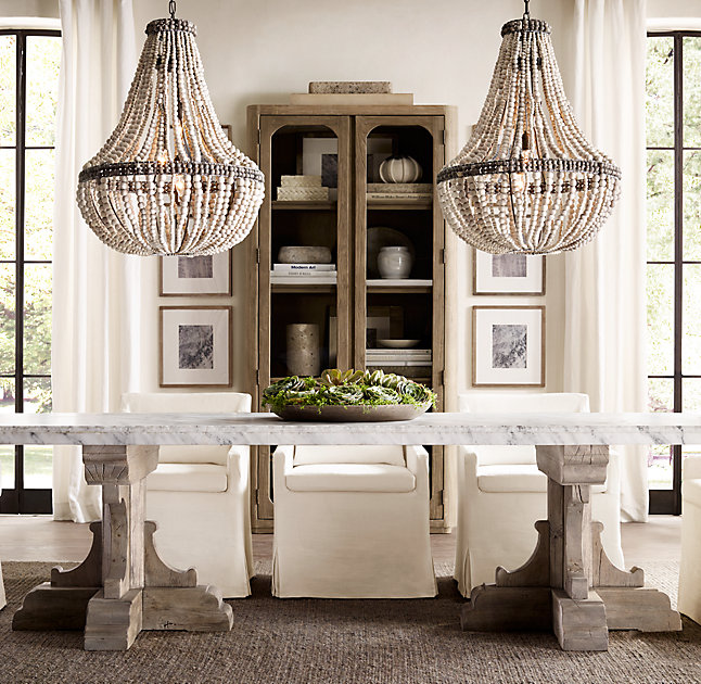 Choosing The Right Size And Shape Light Fixture For Your Dining Room - Two pendant lights over dining room table