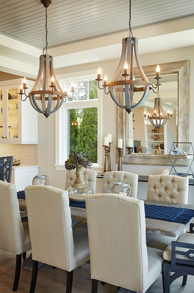 Choosing The Right Size And Shape Light Fixture For Your Dining Room +  Simple Tips On Placement   Style House Interiors