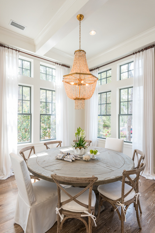 Choosing The Right Size And Shape Light Fixture For Your Dining Room - Lighting over breakfast table