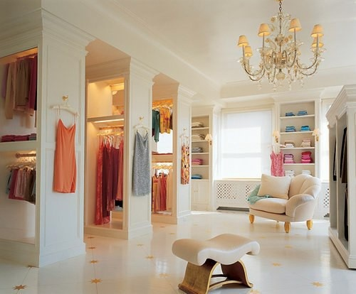 When I first saw this next closet, I thought it was a store! I mean who has  a closet like this? This is only a small portion of it ?