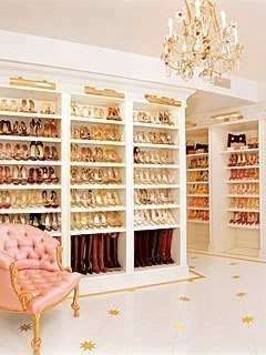 Do you know who's closet this is?? It belongs to none other than Mariah  Carey, enough said!
