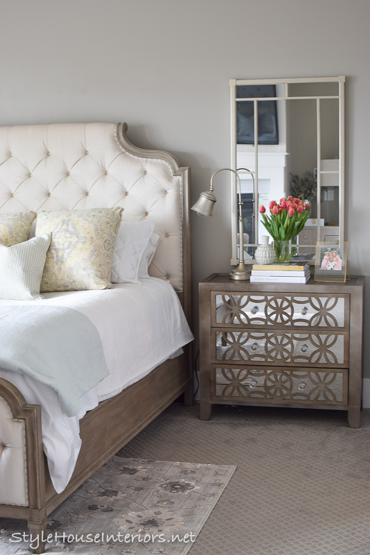 Spring Tour Ideas On How To Style Your Bedside Table