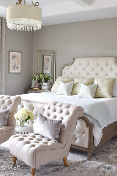 Spring Tour + Ideas on how to style your bedside table