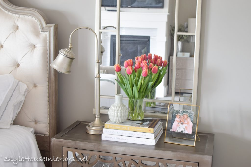 spring tour + ideas on how to style your bedside table - style house Nightstand Design