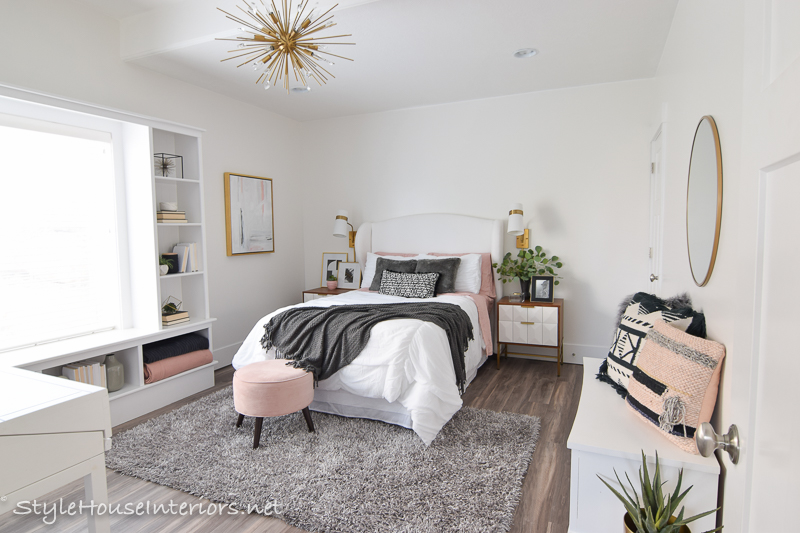Boho Glam White bedroom makeover – One room challenge reveal