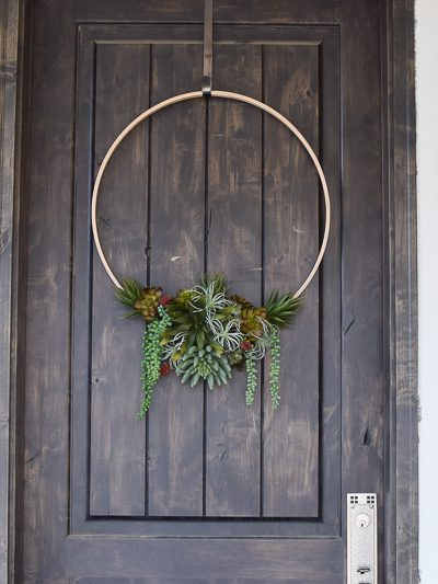 DIY Modern faux succulent wreath