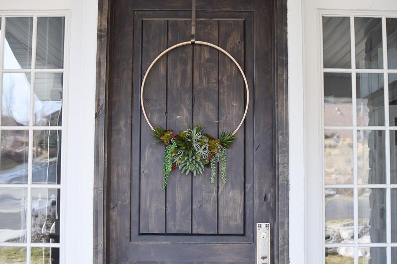 DIY Modern faux succulent wreath