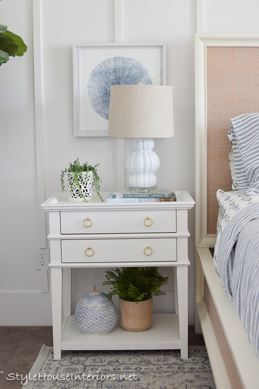 Blue and white bedroom makeover