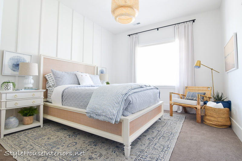 Creating a Neutral Lakeside inspired Bedroom using Subtle Accents