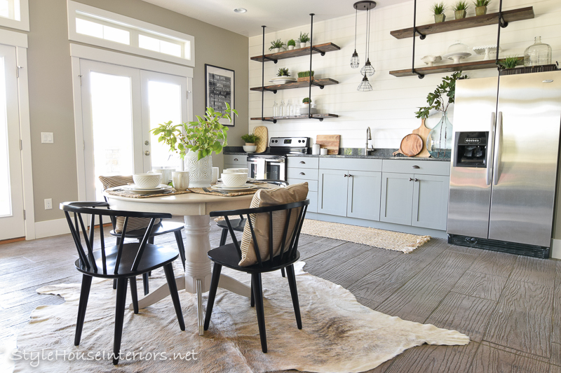 Adding Vintage Flair to a Modern Industrial Eat In Kitchen
