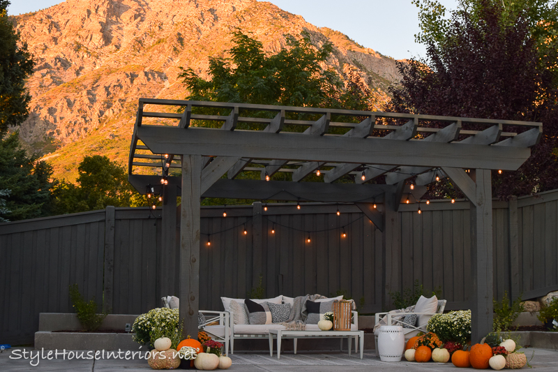 Transitioning to Fall on the Patio