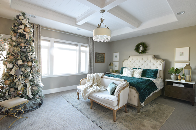 Luxe Velvet Winter Bedroom